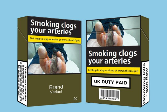 Cigarettes WILL still have plain packaging from today (Picture: ASH/PA)
