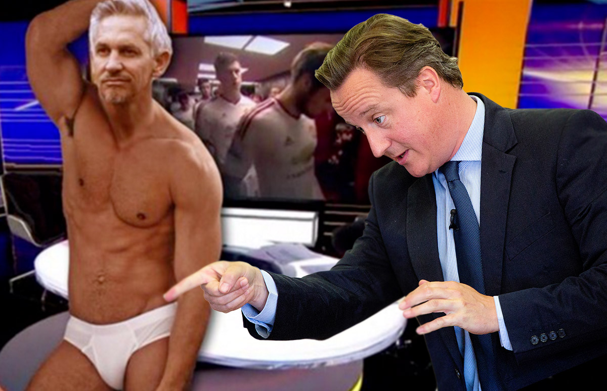 David Cameron: Gary Lineker should present Match of the Day in his pants after Leicester title win