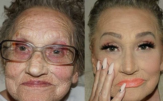 contouring grandma