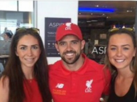 Liverpool's Danny Ings left red-faced after being snapped en route to the Europa League final