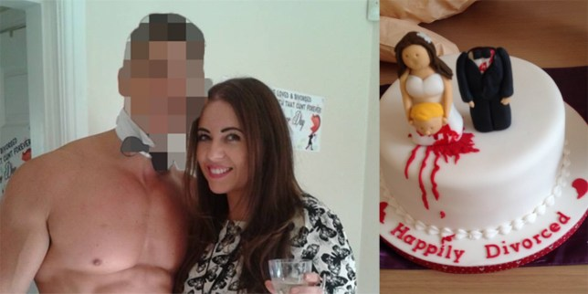 Mum celebrates divorce with huge bash, smashing a pinata of her hubby and having a fling with the naked butler