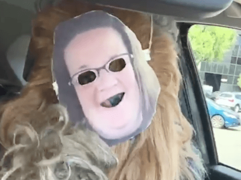 Chewbacca wore a Chewbacca Mom mask and it's just as hilarious