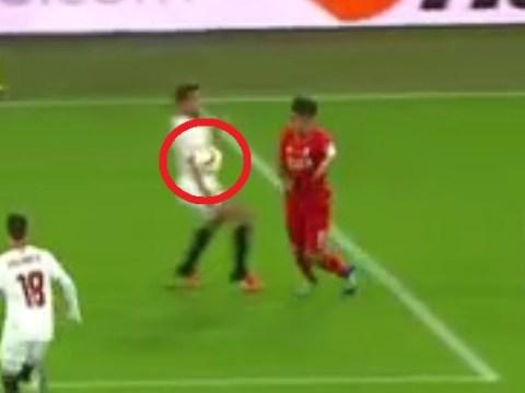 Liverpool star Roberto Firmino has strong case for handball turned down against Sevilla