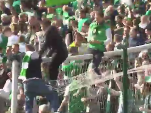 Hibernian fans launch pitch invasion after ending 114-year wait for Scottish FA Cup win