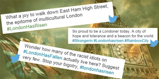 People are tweeting #LondonHasFallen after the mayoral election results Credit: Millennium Films