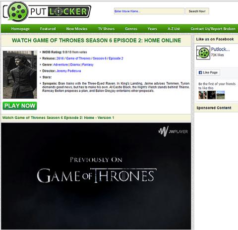 Watch Game Of Thrones online: Putlocker streaming site blocked so