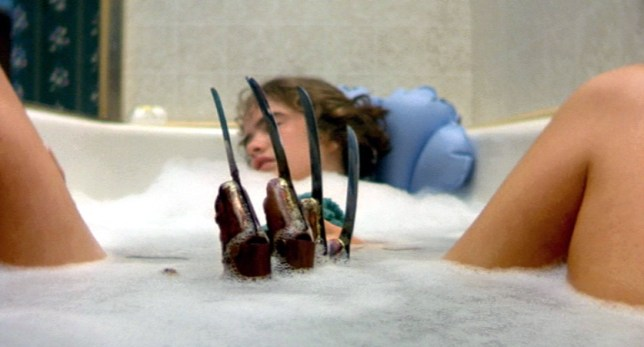 Bath times have never been the same again since A Nightmare on Elm Street (Picture: New Line)