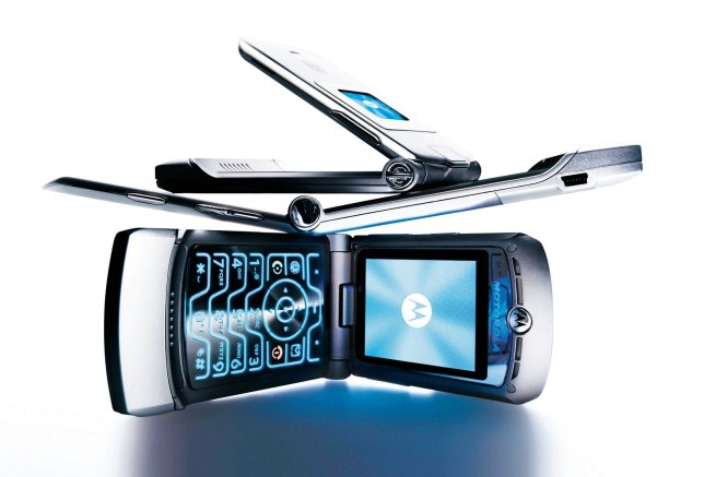 Motorola V3 'MOTO RAZR' mobile telephone, from £100 with contract, or £450 SIM free.