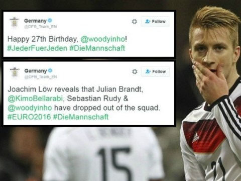 Germany drop Marco Reus from Euro 2016 squad moments after wishing him happy birthday