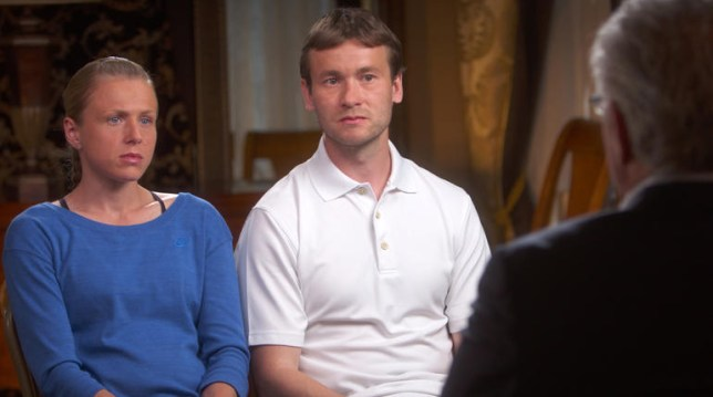 Yuliya and Vitaly Stepanov made the claims in a 60 Minute Special (Photo: CBS News