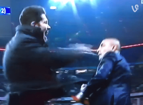 Diego Simeone slaps Atletico Madrid official during tense