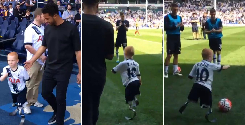 Mousa Dembele invites Tottenham fan, who lost his limbs to meningitis, to train at half-time