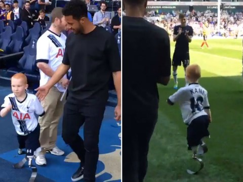 Mousa Dembele invites Tottenham fan, who lost his limbs to meningitis, to train at half-time