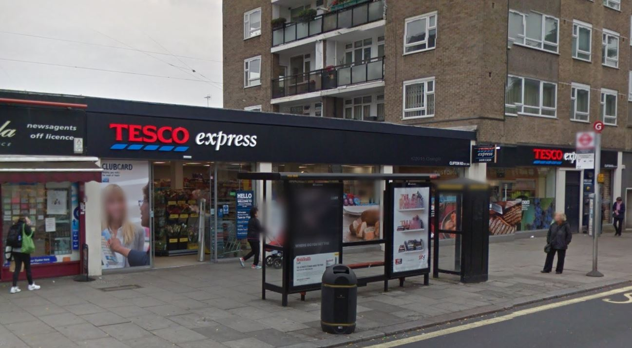 Staff at a Maida Vale branch of Tesco detained the boy (Picture: Google Street View)