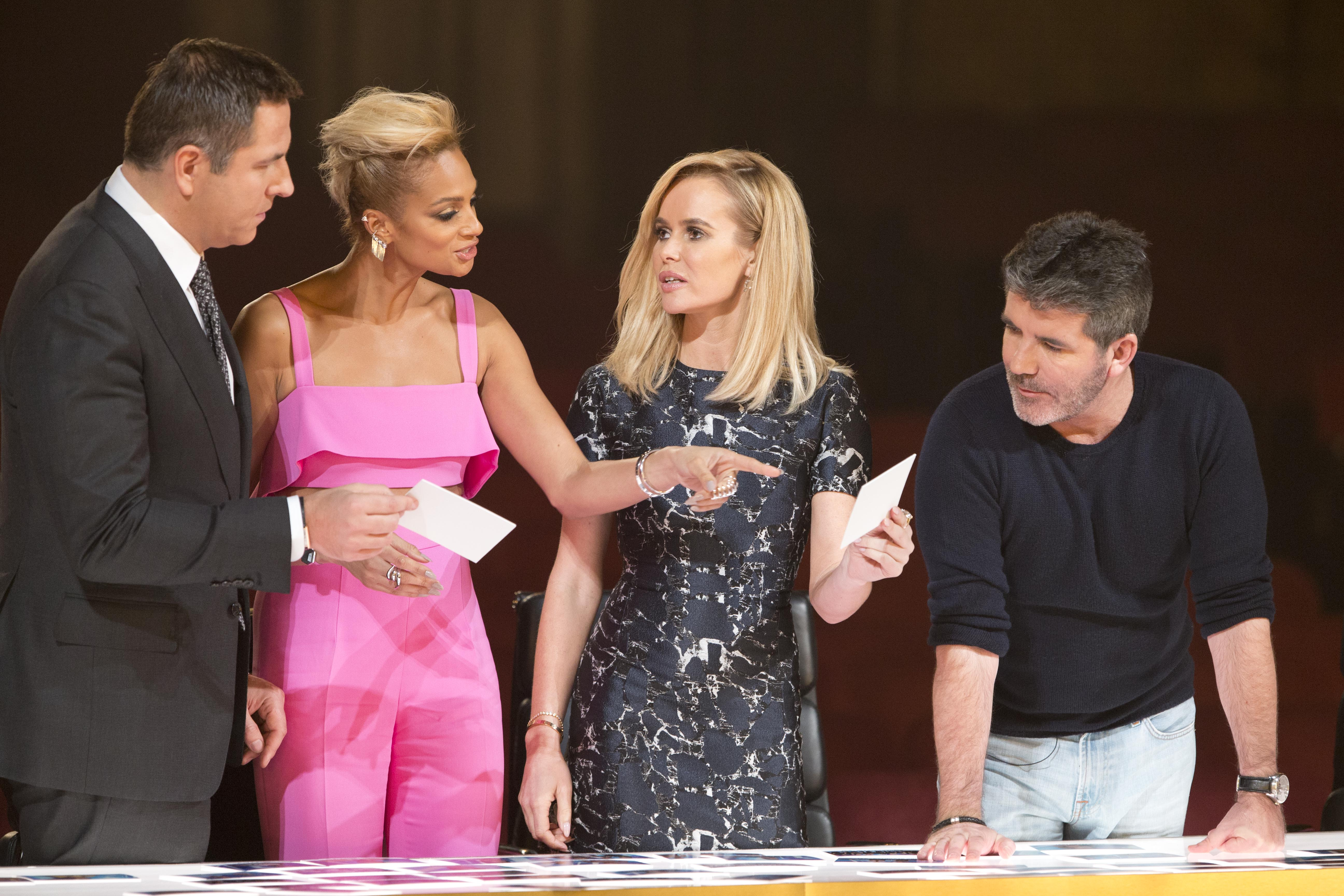 A THAMES/SYCO TV PRODUCTION FOR ITV PICTURE SHOWS: DELIBERATION UNDER STRICT EMBARGO UNTIL 00.01 ON SATURDAY 21ST MAY 2016. BRITAIN'S GOT TALENT This Spring, the one and only BritainÕs Got Talent is back and celebrating 10 triumphant years of talent. The dream team of judges - Simon Cowell, Amanda Holden, Alesha Dixon and David Walliams - once again take their places on the panel, in search of the most astonishing and exhilarating talent around. They are joined by the nationÕs favourite TV duo Ant & Dec, who will be on hand to encourage, congratulate and commiserate the variety of acts whilst guiding the audience through the auditions.