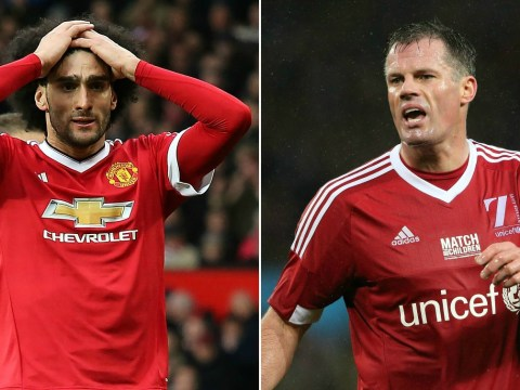 Liverpool legend Jamie Carragher hopes Manchester United's Marouane Fellaini never plays in the Premier League again
