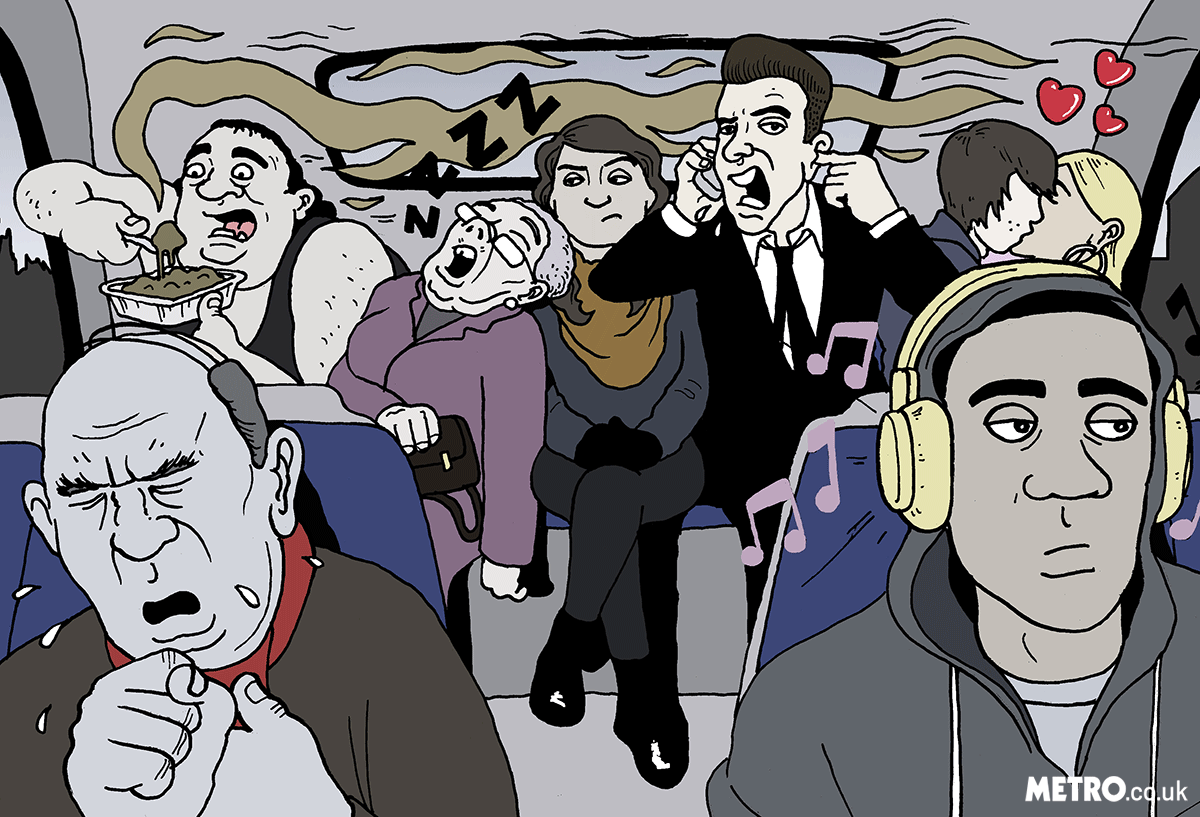Illustration Request: The XX most annoying people you see on the bus