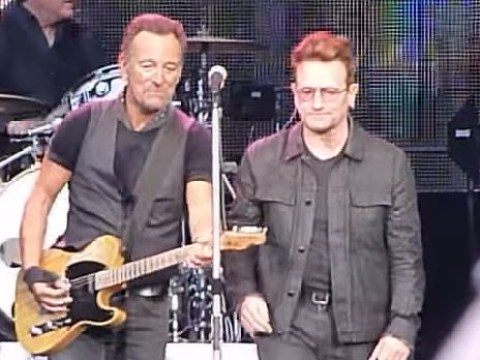 WATCH: Bruce Springsteen fans go wild as Bono joins The Boss on stage in Dublin
