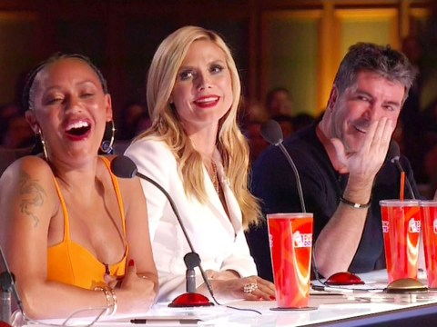 Simon Cowell says Spice Girls drag act on America's Got Talent were better than band… in front of Mel B