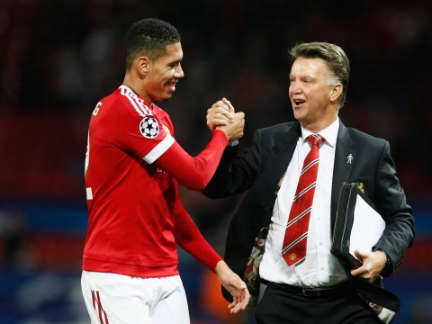 Manchester United's Chris Smalling says Louis van Gaal contributed to England rise
