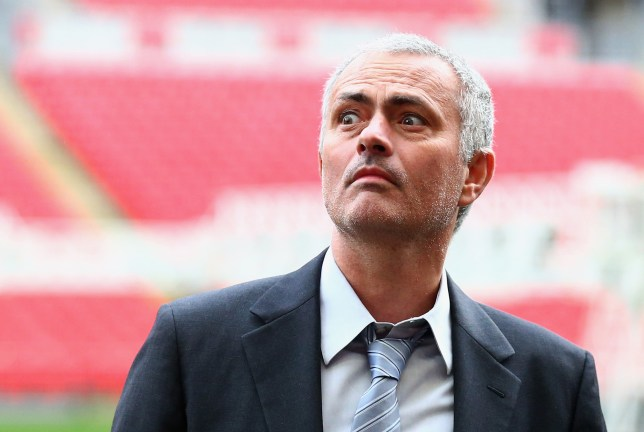 LONDON, ENGLAND - FEBRUARY 01: Former Chelsea manager Jose Mourinho looks on after a press conference by FIFA Presidential candidate Gianni Infantino at Wembley Stadium on February 1, 2016 in London, England. (Photo by Clive Rose/Getty Images)