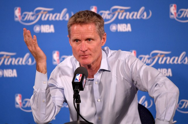 OAKLAND, CA - JUNE 02: Head coach Steve Kerr of the Golden State Warriors answers questions after the Warriors 104-89 victory against the Cleveland Cavaliers in Game 1 of the 2016 NBA Finals at ORACLE Arena on June 2, 2016 in Oakland, California. NOTE TO USER: User expressly acknowledges and agrees that, by downloading and or using this photograph, User is consenting to the terms and conditions of the Getty Images License Agreement. (Photo by Thearon W. Henderson/Getty Images)