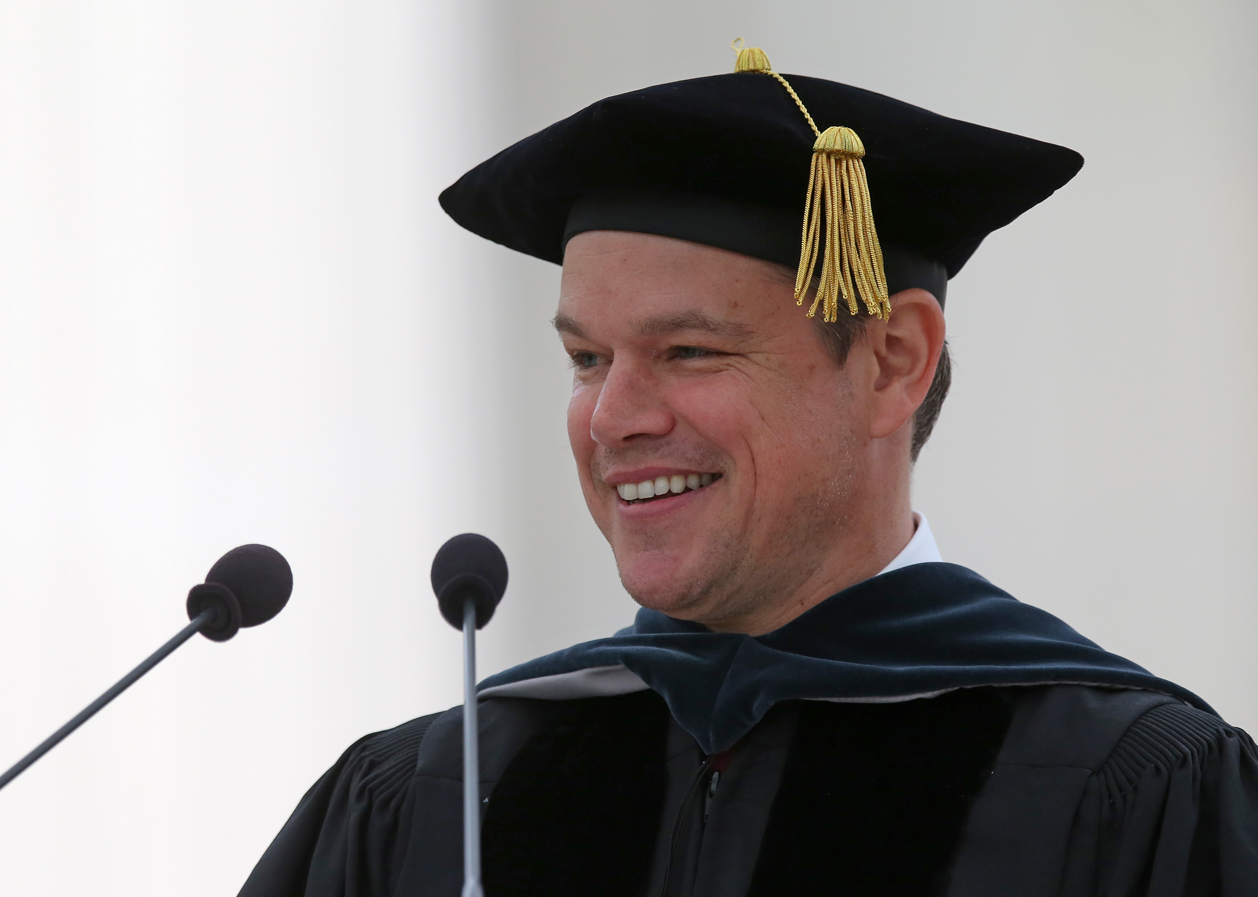 WATCH: Matt Damon delivers a moving politically-charged commencement speech at MIT