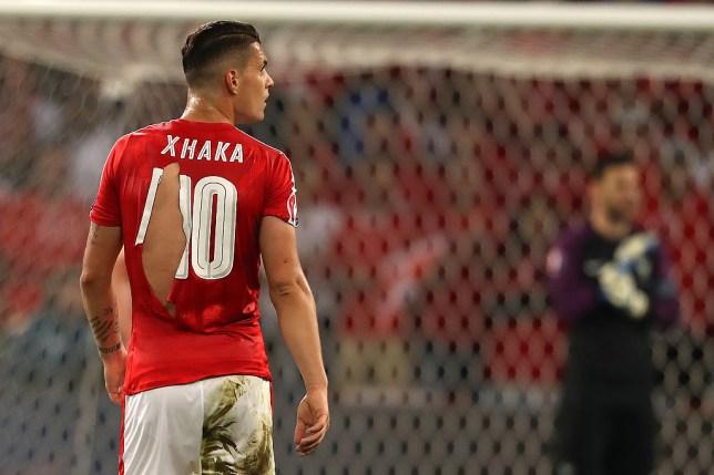 sale retailer 8f65f 727df Xherdan Shaqiri on Switzerland's ripped shirts: 'I hope Puma ...