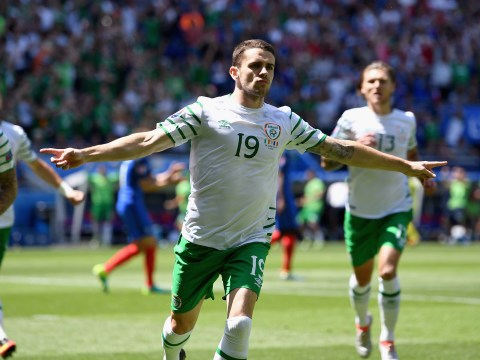 Republic of Ireland lose their minds as Robbie Brady strikes early against France