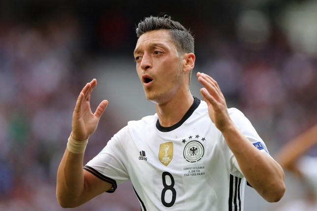 LILLE, FRANCE - JUNE 26:  Mesut Ozil of Germany reacts during the UEFA Euro 2016 Round of 16 match between Germany and Slovakia at Stade Pierre-Mauroy on June 26, 2016 in Lille, France.  (Photo by Matthew Ashton - AMA/Getty Images)