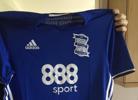 Birmingham City fan buys club shirt with upside down badge