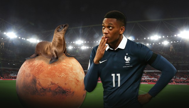 Mars and a seal, the best way to remember how to pronounce Martial's name (Picture: Getty/ Metro/Anas Chowdhury