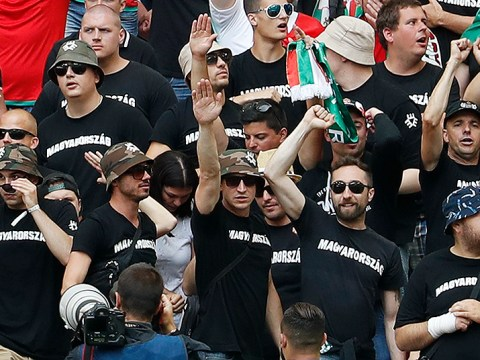 Hungarian fans 'pictured performing Nazi salute in stands at Euro 2016'