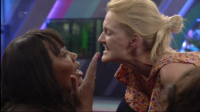 Natalie Rowe squares up to Jayne Connery on 'Big Brother'. Broadcast on Channel 5 HD. Featuring: Natalie Rowe, Jayne Connery Where: United Kingdom When: 23 Jun 2016 Credit: Supplied by WENN **WENN does not claim any ownership including but not limited to Copyright, License in attached material. Fees charged by WENN are for WENN's services only, do not, nor are they intended to, convey to the user any ownership of Copyright, License in material. By publishing this material you expressly agree to indemnify, to hold WENN, its directors, shareholders, employees harmless from any loss, claims, damages, demands, expenses (including legal fees), any causes of action, allegation against WENN arising out of, connected in any way with publication of the material.**