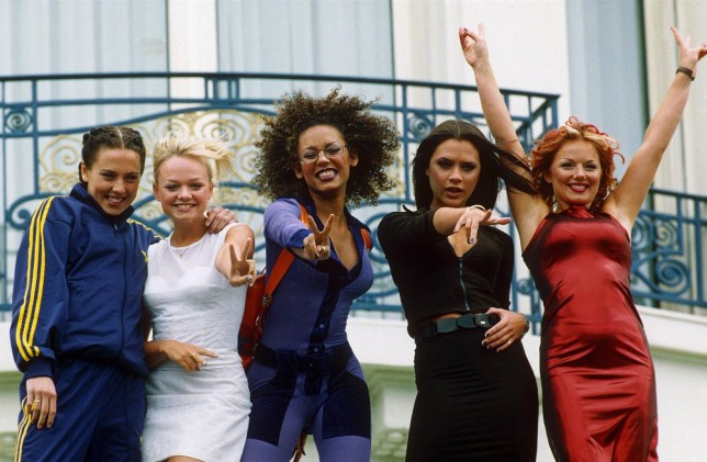 Mel B surprises fans at Spiceworld screening. Mandatory Credit: Photo by Times Newspapers Ltd/REX/Shutterstock (274615a)nSPICE GIRLS PROMOTING FILM '' SPICE WORLD''nTHE 5OTH CANNES FILM FESTIVAL, FRANCE - 1997nn