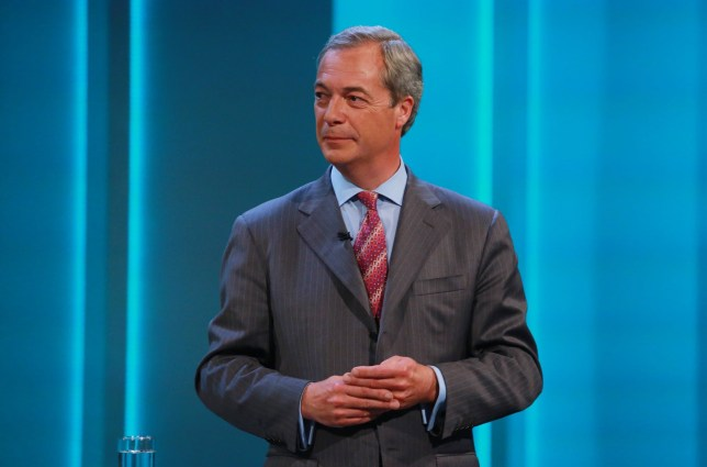 This picture is made available free of charge for Press Editorial Use up to and including Thursday 30th June 2016. No archive after this date. Mandatory Credit: Photo by Matt Frost/ITV/REX/Shutterstock (5717610p) Nigel Farage 'Cameron and Farage Live: The EU Referendum', London, Britain - 07 Jul 2016 Julie Etchingham, who moderated ITV's successful Leaders' Debate during the 2015 General Election campaign, presented the hour-long programme in which David Cameron and Nigel Farage in turn answered questions from a studio audience. Tonights programme saw both party leaders answer questions from a studio audience of up to 200 people. Nigel Farage took questions first, followed by David Cameron. The audience posed their questions directly to the politicians. David Cameron wants Britain to remain in the EU, announcing the date of the 23rd June referendum in February. Nigel Farage has been campaigning for Britain to leave the EU for more than 20 years. A second live event programme will be broadcast on Thursday 9th June at 8pm, where other leading political figures will put their respective cases to leave or to remain in the EU, in front of a studio audience.