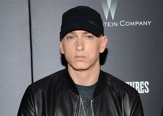 "FILE - In this July 20, 2015 file photo, Eminem attends the premiere of ""Southpaw"" in New York. (Photo by Evan Agostini/Invision/AP, File)"