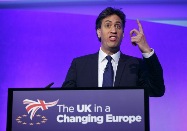 Mandatory Credit: Photo by Tolga Akmen/LNP/REX/Shutterstock (5725587d) Former Labour leader Ed Miliband speaks at UK in a Changing Europe conference at Queen Elizabeth II Conference Centre UK in a Changing Europe annual conference, London, UK - 10 Jun 2016