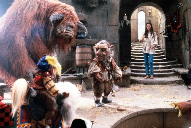 F6FAGR RELEASE DATE: June 27, 1986 MOVIE TITLE: Labyrinth DIRECTOR: Jim Henson STUDIO: TriStar Pictures PLOT: Sarah, a teen, summons the goblins from her fave book, the Labyrinth, to steal her baby 1/2 bro Toby. When they actually do, she must solve the Goblin King's (Bowie) Labyrinth in 13 hours or else Toby will become a goblin PICTURED: JENNIFER CONNELLY as Sarah (Credit Image: © TriStar Pictures/Entertainment Pictures)