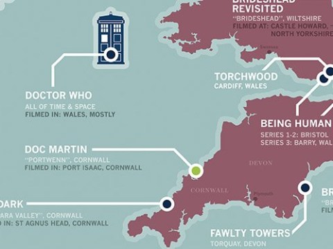 From Gavin And Stacey to Byker Grove, this incredible map of the UK pinpoints TV locations