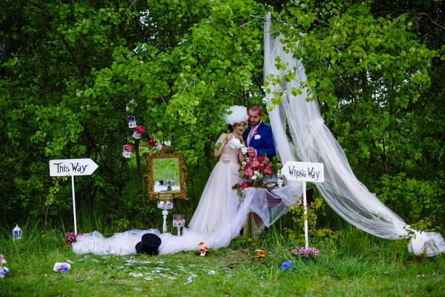 Alice In Wonderland Themed Wedding For Polish Couple Rafael And