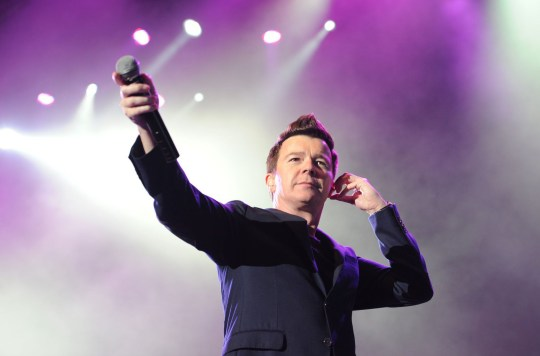 Mandatory Credit: Photo by Gallo Images/REX/Shutterstock (1945050a)nRick Astleyn80s Rewind Festival, Cape Town, South Africa - 31 Oct 2012nn