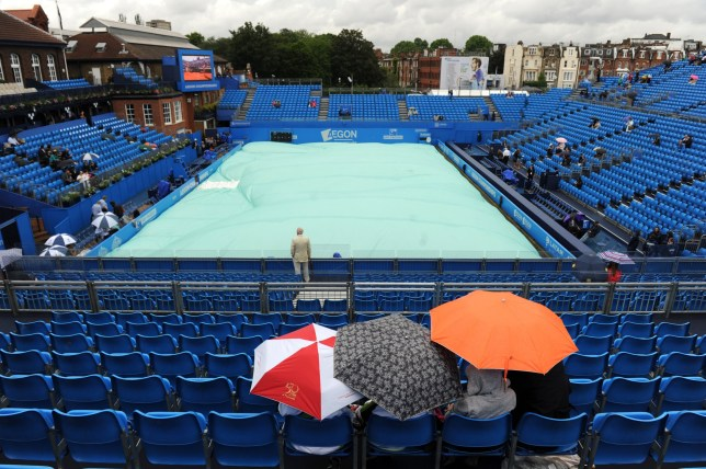Britain Tennis - Aegon Championships - Queens Club, London - 13/6/16 General view during a rain delay Action Images via Reuters / Tony O'Brien Livepic EDITORIAL USE ONLY.