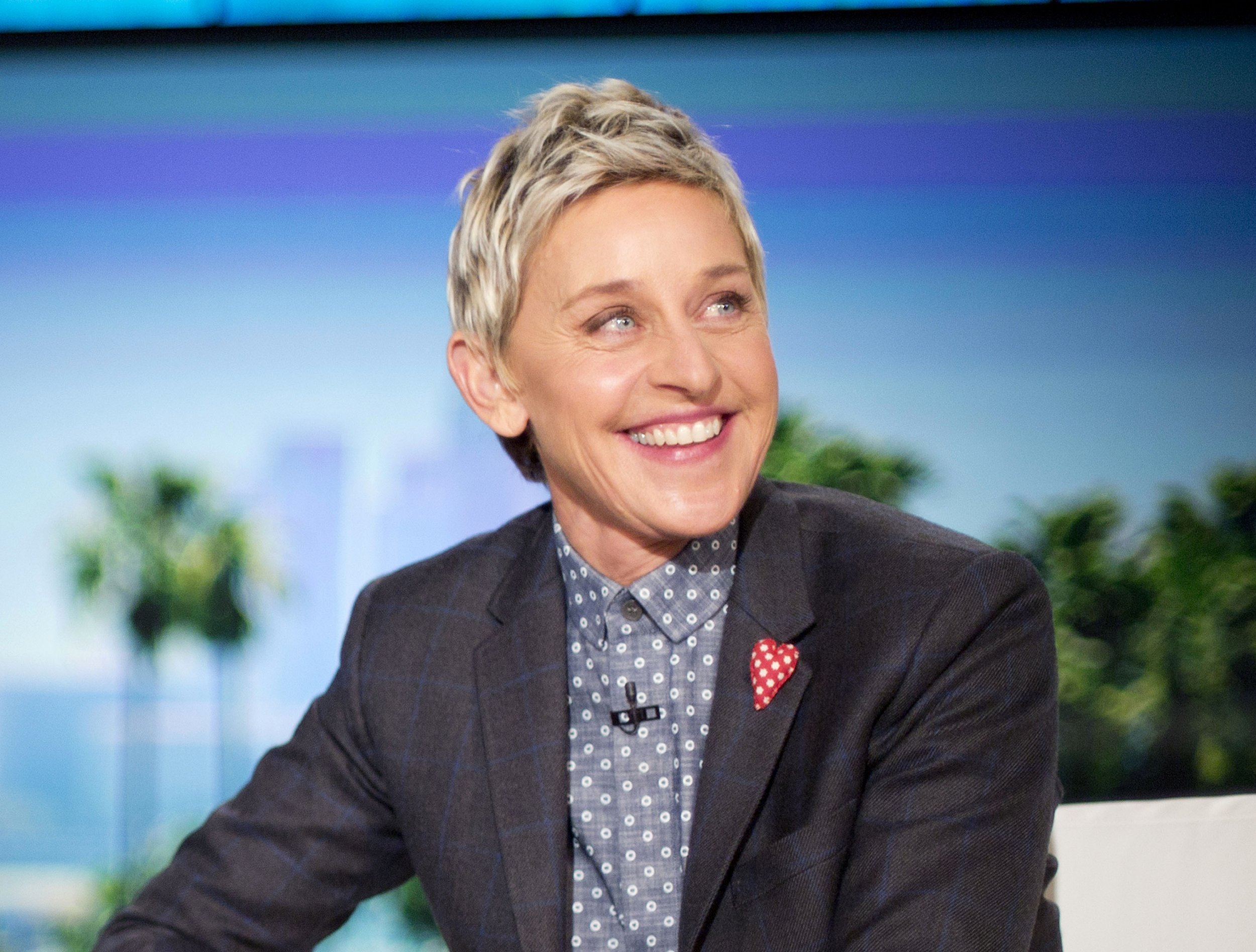 """FILE - In this Feb. 11, 2016 file photo, host Ellen DeGeneres appears during a taping of """"The Ellen DeGeneres Show,"""" in Burbank, Calif. DeGeneres voices the character of Dory in the Disney Pixar animated feature, """"Finding Dory."""" (AP Photo/Pablo Martinez Monsivais, File)"""
