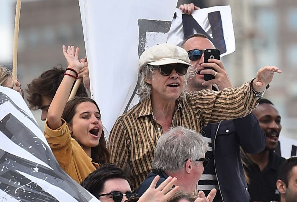 Tiger Lily Hutchence makes rare appearance with Bob Geldof during the Brexit Battle of the Thames