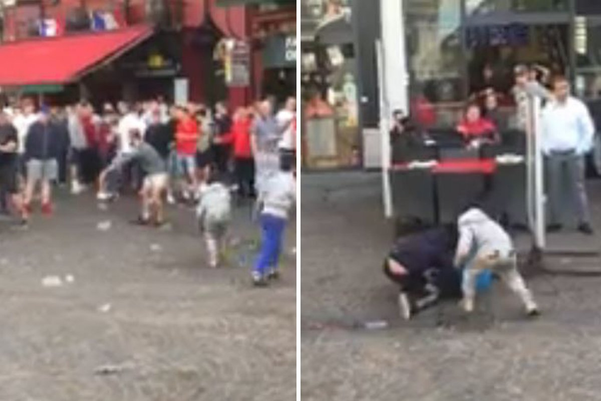 English football fans 'taunt begging children' in Lille ahead of England vs Wales