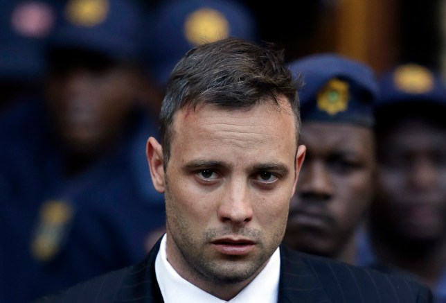 Oscar Pistorius leaves the High Court in Pretoria, South Africa, Wednesday, June 15, 2016, after his sentencing proceedings. An appeals court found Pistorius guilty of murder, and not culpable homicide for the shooting death of his girlfriend Reeva Steenkamp. (AP Photo/Themba Hadebe)