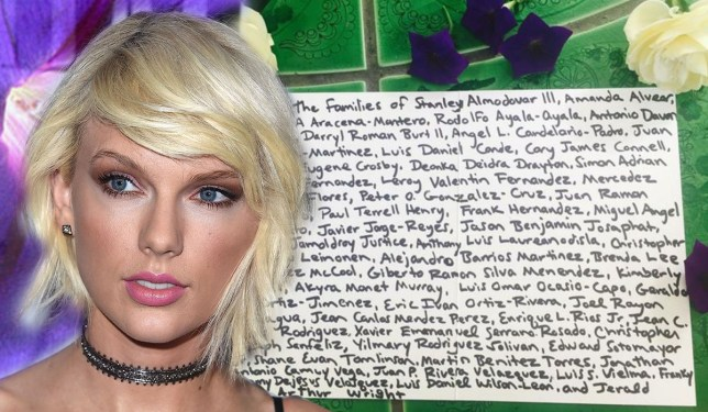 Taylor Swift pays tribute to Orlando victims in a beautiful way Credit: Getty/ Instagram