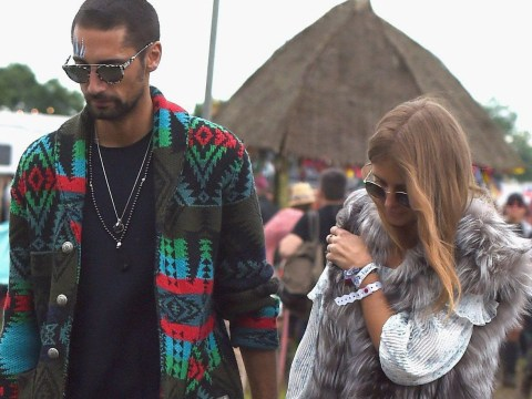 Awkward! Millie Mackintosh and Hugo Taylor 'refused entry' to Glastonbury VIP area