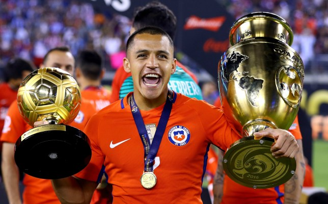 3c5ce4903 Arsenal and Chile star Alexis Sanchez was awarded the Golden Ball (Picture   Getty)